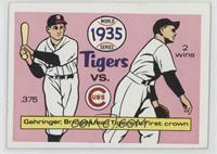 Detroit Tigers Team, Chicago Cubs Team