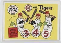 1908-Detroit Tigers vs. Chicago Cubs [GoodtoVG‑EX]