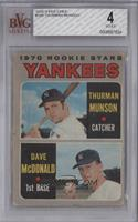 1970 Rookie Stars (Thurman Munson, Dave McDonald) [BVG4]