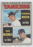 1970 Rookie Stars (Thurman Munson, Dave McDonald) [Good to VG‑E…