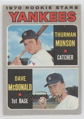 1970 O-Pee-Chee #189 - 1970 Rookie Stars (Thurman Munson, Dave McDonald) [Good to VG‑EX]