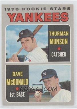 1970 O-Pee-Chee #189 - 1970 Rookie Stars (Thurman Munson, Dave McDonald) [GoodtoVG‑EX]
