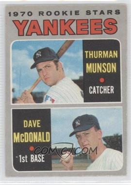 1970 O-Pee-Chee #189 - 1970 Rookie Stars (Thurman Munson, Dave McDonald)