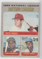 Pete Rose, Roberto Clemente, Cleon Jones [Good to VG‑EX]