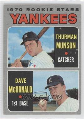 1970 Topps - [Base] #189 - 1970 Rookie Stars (Thurman Munson, Dave McDonald)