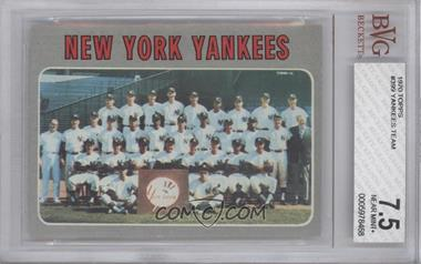 1970 Topps - [Base] #399 - New York Yankees Team [BVG 7.5]