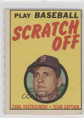 1970 Topps Scratch Off Scratched #CAYA - Carl Yastrzemski