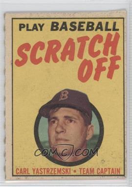 1970 Topps Scratch Off Scratched #N/A - Carl Yastrzemski