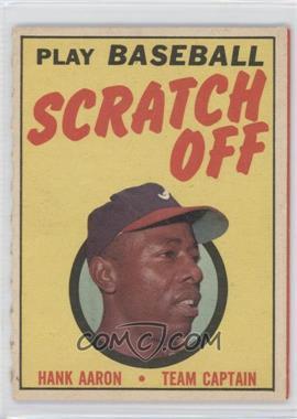 1970 Topps Scratch Off Unscratched #HAAA - Hank Aaron