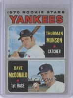 1970 Rookie Stars (Thurman Munson, Dave McDonald) [Poor]
