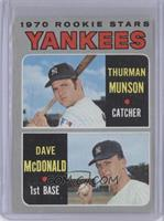 1970 Rookie Stars (Thurman Munson, Dave McDonald) [GoodtoVG‑E…
