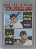 1970 Rookie Stars (Thurman Munson, Dave McDonald) [Poor]