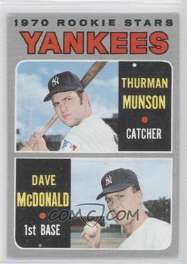 1970 Topps #189 - 1970 Rookie Stars (Thurman Munson, Dave McDonald)