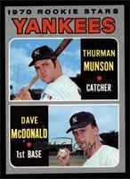 1970 Rookie Stars (Thurman Munson, Dave McDonald) [EXMT]