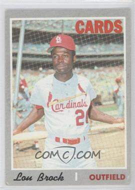 1970 Topps #330 - Lou Brock [Good to VG‑EX]