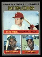 National League Batting Leaders (Pete Rose, Roberto Clemente, Cleon Jones) [EX]