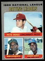 National League Batting Leaders (Pete Rose, Roberto Clemente, Cleon Jones) [EX&…