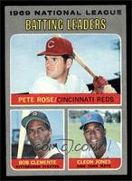 National League Batting Leaders (Pete Rose, Roberto Clemente, Cleon Jones) [EX]