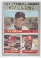 National League ERA Leaders (Juan Marichal, Steve Carlton, Bob Gibson)