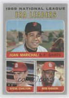 National League ERA Leaders (Juan Marichal, Steve Carlton, Bob Gibson) [Good&nb…