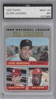 National League ERA Leaders (Juan Marichal, Steve Carlton, Bob Gibson) [ENCASED]