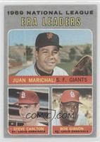 National League ERA Leaders (Juan Marichal, Steve Carlton, Bob Gibson) [Poor&nb…