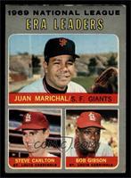 National League ERA Leaders (Juan Marichal, Steve Carlton, Bob Gibson) [GOOD]