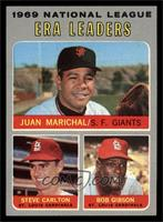 National League ERA Leaders (Juan Marichal, Steve Carlton, Bob Gibson) [NM]