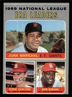 National League ERA Leaders (Juan Marichal, Steve Carlton, Bob Gibson) [EX&nbsp…