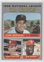 National League ERA Leaders (Juan Marichal, Steve Carlton, Bob Gibson)