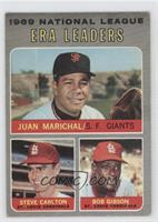 National League ERA Leaders (Juan Marichal, Steve Carlton, Bob Gibson) [Good&nb…