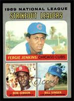 National League Strikeout Leaders (Fergie Jenkins, Bob Gibson, Bill Singer) [EX]