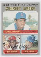 National League Strikeout Leaders (Fergie Jenkins, Bob Gibson, Bill Singer)