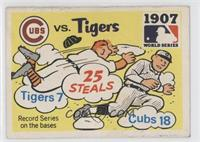 1907 - Chicago Cubs vs, Detroit Tigers Team [Good to VG‑EX]