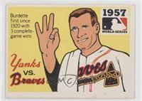 1957 - New York Yankees vs. Milwaukee Braves [GoodtoVG‑EX]