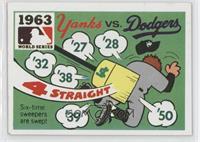 1963 - New York Yankees vs. Los Angeles Dodgers