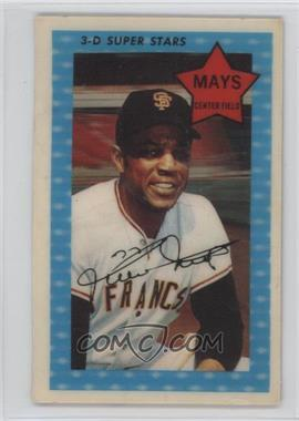 1971 Kellogg's 3-D Super Stars - [Base] #10 - Willie Mays