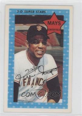 1971 Kellogg's 3-D Super Stars #10 - Willie Mays