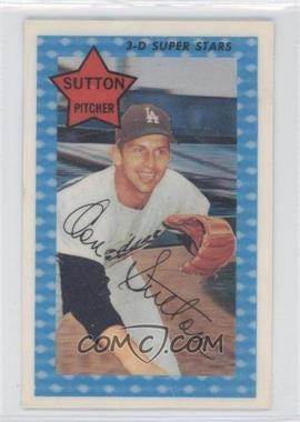 1971 Kellogg's 3-D Super Stars #31 - Don Sutton