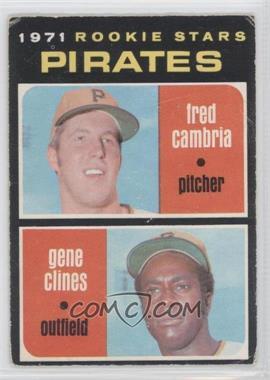 1971 O-Pee-Chee - [Base] #27 - Fred Cambria, Gene Clines [GoodtoVG‑EX]