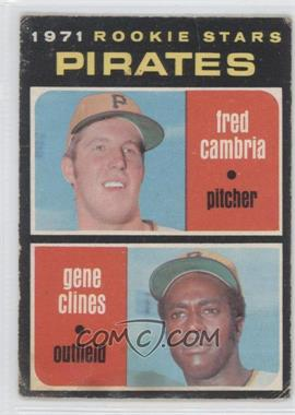 1971 O-Pee-Chee #27 - Fred Cambria, Gene Clines