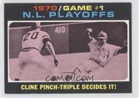 N.L. Playoffs Game 1 (Cline Pinch-Triple Decides It!)