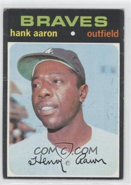 1971 Topps - [Base] #400 - Hank Aaron [Poor to Fair]