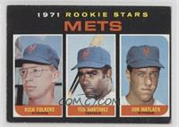 Mets Rookie Stars (Rich Folkers, Ted Martinez, Jon Matlack) [Good to …
