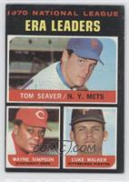 National League ERA Leaders (Tom Seaver, Wayne Simpson, Luke Walker)
