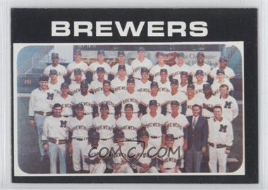 1971 Topps - [Base] #698 - Milwaukee Brewers Team