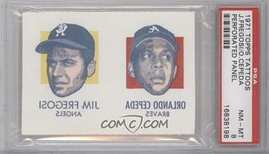 1971 Topps Tattoos #N/A - Jim French, Orlando Cepeda [PSA 8]