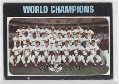 1971 Topps #1 - Baltimore Orioles Team (World Champions)