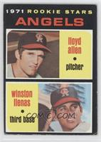 Angels Rookie Stars (Lloyd Allen, Winston Llenas) [Good to VG‑E…