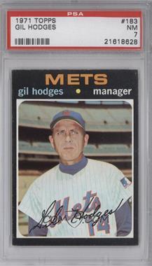 1971 Topps #183 - Gil Hodges [PSA7]